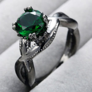 """Jewelry - 18K Black Gold Plated """"EMERALD"""" Ring 💓"""